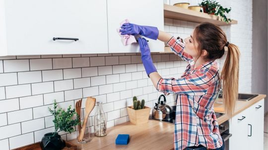 Set of tips for kitchen sinks cleaning