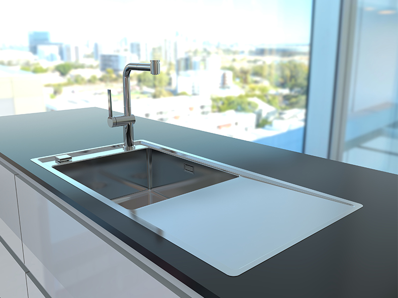 STRICTO - new kitchen sinks with something \