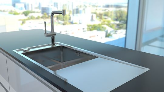 "STRICTO - new kitchen sinks with something ""on the side"""