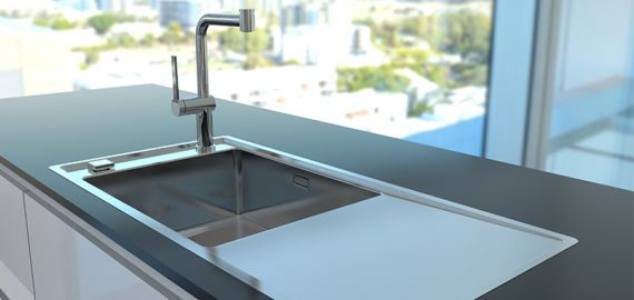 """STRICTO - new kitchen sinks with something """"on the side"""""""