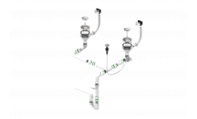 dvodijelni sifon 114-PP-114-POPUP